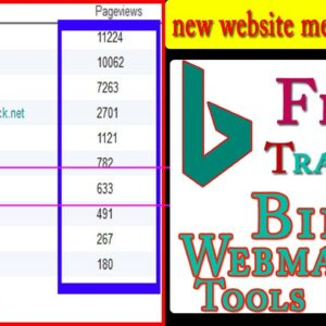 How To Add Website-Blog To Bing Search Engine | Submit Site Webmaster Tools |FreeTraffic Kaise laye|