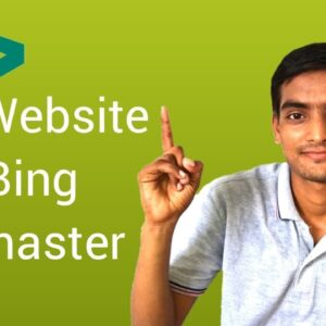 Bing Webmaster Tools - How to Add Blog Or Website in Search Engine | Submit Site to Bing (Hindi)