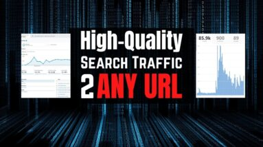 Google Organic Search Engine Traffic to any URL!