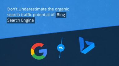 Don't Underestimate the organic search traffic potential of Bing Search Engine - #Shorts