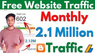 Free Website Traffic 2021 | Get Free Website Traffic From USA | Get Free Organic Website Traffic |