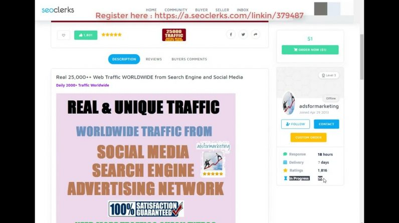 Real 25,000 Website Traffic WORLDWIDE from Search Engine and Social Media Ons SE